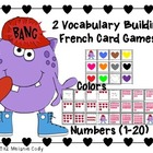 Valentine's Colors and Numbers French Vocabulary Game -- BANG!