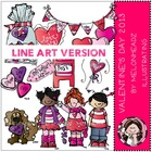 Valentines Day 2013 LINE ART bundle by melonheadz