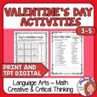 Valentine&#039;s Day Activities - 12 Pages of Critical Thinking