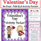 Valentine's Day Activities Packet   NO PREP!