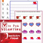 Valentine's Day Activity Pages (V is for Valentine)