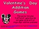 Valentine&#039;s Day Addition Games- Kindergarten and First Grade