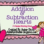 Valentine's Day Addition and Subtraction Heart Game