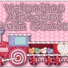 Valentine's Day Alphabet Train Center