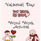 Valentine's Day Alphabetical Order Differentiated Word Work