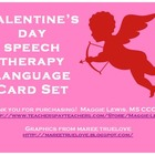 Valentine&#039;s Day Assorted Speech Therapy Language Card Set