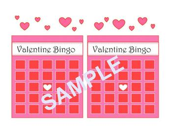 Valentine's Day Bingo with Math Facts