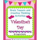 Valentine's Day Brain Teasers and Creative Thinking Activities