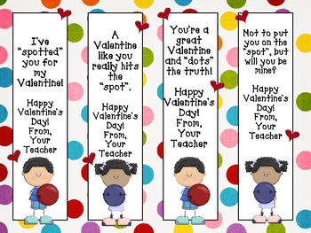 Valentine's Day Cards, Toppers and Bookmarks - Polka Dot Theme