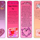 Valentine's Day Colorful Bookmarks with Poems!