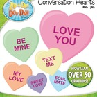 Valentine's Day Conversation Hearts Clipart — Over 30 Graphics!