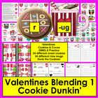 Valentine's Day Literacy Center Cookie Dunkin' Onset Rime