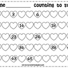 Valentine's Day / Counting Hearts to 50 / Number Writing /