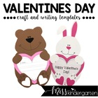 Valentine&#039;s Day- Craft and Writing Templates