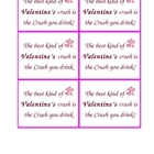 Valentine's Day Crush Bottle Tags