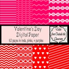 Valentine&#039;s Day Digital Papers