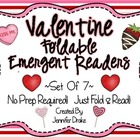 Valentine&#039;s Day Foldable Emergent Readers ~Set of 7~  CC Aligned!