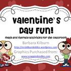 Valentine&#039;s Day Fun!  Math and Literacy Activities for the
