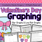 Valentine&#039;s Day Graphing: Bar Graphs and Line Plot Graphs