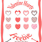 Valentine&#039;s Day Hearts Clipart Freebie PU and CU OK