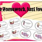 Valentine&#039;s Day Homework Passes (No homework, just love).