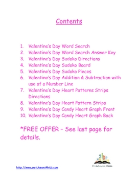 Valentine's Day Kindergarten Enrichment Packet