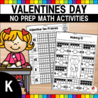 Valentine's Day Kindergarten Math Worksheets