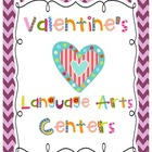 Valentine's Day Language Arts Activities and Center Board