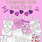 Valentine&#039;s Day Language Arts Pack (K-2)