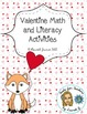 Valentine&#039;s Day Language Arts and Math Fun