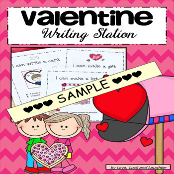 Valentine's Day: Letter writing station for kindergarten FREE