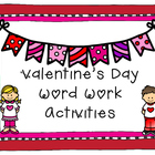 Valentine&#039;s Day Literacy Activities for small groups and RTI