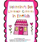 Valentine&#039;s Day Literacy Centers in English