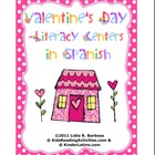 Valentine&#039;s Day Literacy Centers in Spanish
