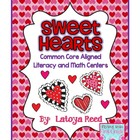 Valentine&#039;s Day Literacy and Math Centers BUNDLE Aligned t