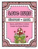Valentine's Day Love Bug Literacy and Math Unit