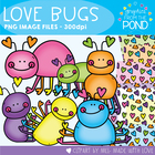 Valentine&#039;s Day Love Bugs - Clipart Graphics From the Pond