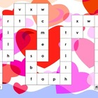 Valentine&#039;s Day Lower Case Letter/Phonics Game