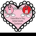 Valentine's Day M&M Math Centers