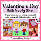 Valentine's Day Math Goofy Glyph (3rd Grade Common Core)