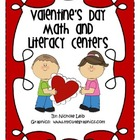 Valentine&#039;s Day Math &amp; Literacy Centers by Nichole Leib