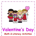 Valentine&#039;s Day Math &amp; Literacy Packet
