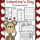 Valentine's Day Math & Literacy Printable Packet