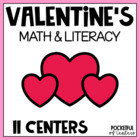 Valentine's Day Math & Literacy Work Stations {10 Centers!}