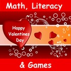 Valentine's Day Math, Literacy and Games
