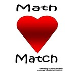 Valentine's Day Math Match