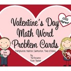 Valentine&#039;s Day Math Word Problem Cards (CCSS Aligned!)