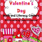 Valentine&#039;s Day Math and Literacy Centers {12)