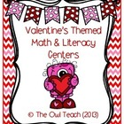 Valentine&#039;s Day Math and Literacy Centers Bundle