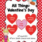 Valentine&#039;s Day - Math and Literacy Lessons MD